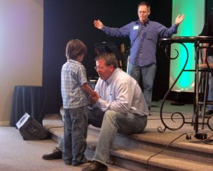 Joseph praying for his Great Grandfather...