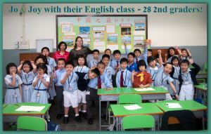 Joy & Jo with their English Students