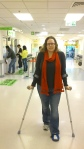 mom on crutches