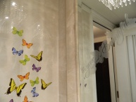 bathroom butterflies