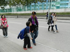 Walking in Daddy's footsteps, the boys love to help on these trips!