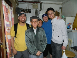 "Mr. Cheng just after ""Joining the Family"", with Mark & volunteers: Pia, Josh (brother-in-law) & Andrew."
