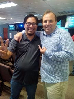 Mark & P. Andrew Huson after sharing @ River City Church in Elk Grove, CA. #hainan1x1