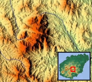 Wuzhi_Mountain_-_Topographical_map