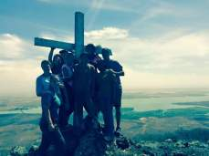 Only a few of us had the courage to conquer the mountain, but the view at the top was totally worth it.